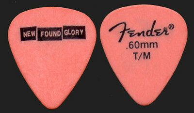 "NEW FOUND GLORY --- 2003 Orange ""Signature"" guitar pick"