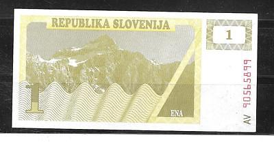 SLOVENIA #1a 1990 TOLAR XF CIRCULATED OLD BANKNOTE BILL NOTE PAPER MONEY