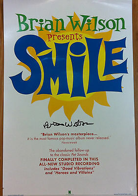 BRIAN WILSON Presents Smile 2004 Autographed Signed Promo Poster BEACH BOYS