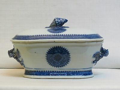 Chinese Export Porcelain Small Tureen - Late 18Th Century - Fitzung Pattern
