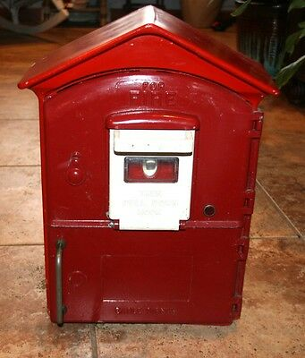 RARE! Vintage GAMEWELL Fire Alarm Box double door Eagle Signal Pull down door