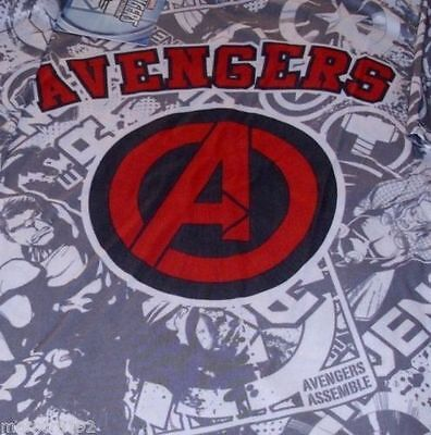 MARVEL AVENGERS Boys t-shirt White with Gray Tee New With Tags
