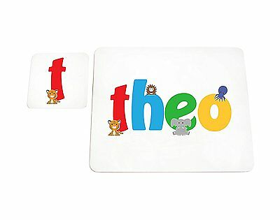 Feel Good Art High Gloss Placemat and Coaster for Babies/Toddlers (Theo)