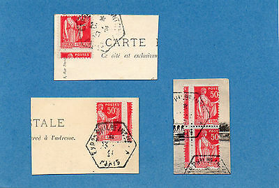 Timbres France N°283 Piquages A Cheval Differents.tb