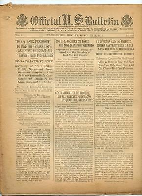 WWI Official US Bulletin Daily Newspaper October 14 1918 Casualty Lists