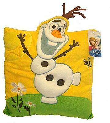 Joy Toy 115618 33 x 33 cm Disney Frozen Olaf 3D Plush Pillow with Applications
