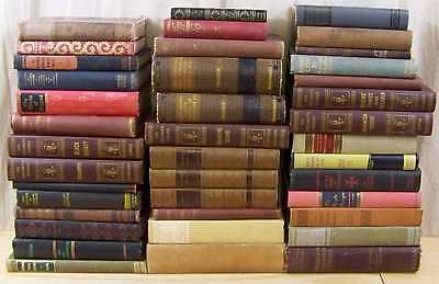 Lot of 10 ANTIQUE Old Books Decorative Collection Set MIXED UNSORTED Hardcovers