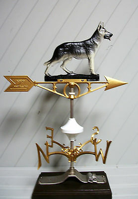 Weather Vane German Shepard Heavy Duty Cast Aluminum Painted Complete Set Barn