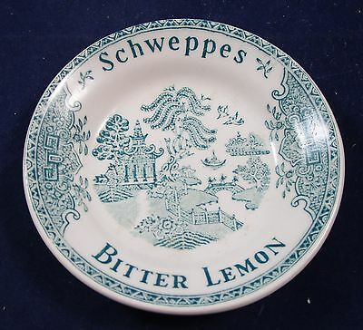 Vintage Unmarked Schweppes Bitter Lemon Cup Plate Bottle Stand - Age Unknown