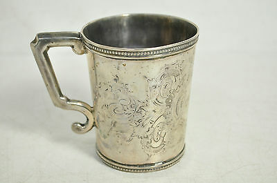 Jones Ball And Company Boston Pure Silver Coin Cup