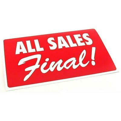 All Sales Final Plastic Message Display Sign