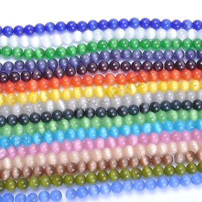 4MM,6MM,8MM,10MM,12MM Cat Eye Gemstone Round Loose Charms Spacer Beads