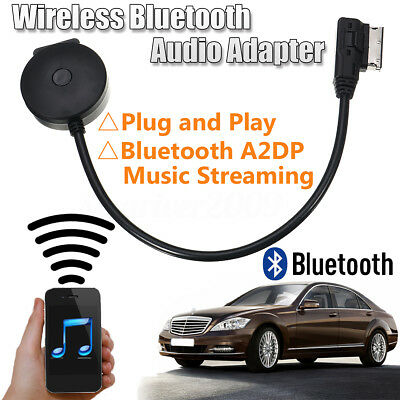 2in1 Wireless MMI MDI to Bluetooth Adapter USB Music AUX Cable For Mercedes Benz