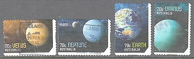 Australia 2015 Solar System Used set 4  self adhesive stamps