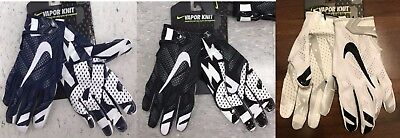 NEW NIKE VAPOR KNIT Mens Football Receiver Gloves Adult Sizes Black or Navy Blue