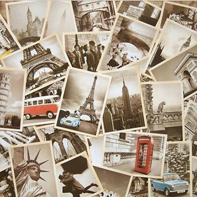 (32 pieces/set)Vintage Style Famous Building Retro Old Travel Postcards