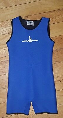 warm belly wetsuits kids large L blue