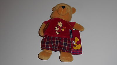 Disney Winnie the Pooh Snowflake book under arm SOFT TOY Brand new with tag