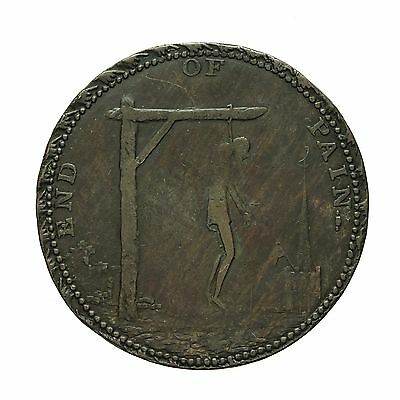 Middlesex Spence`s Hanging Man Halfpenny Token  End Of Pain / Pandora's Breeches