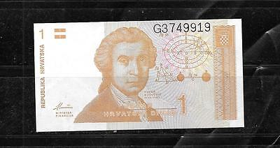 CROATIA #16a UNCIRCULATED MINT DINAR BANKNOTE NOTE BILL PAPER MONEY CURRENCY