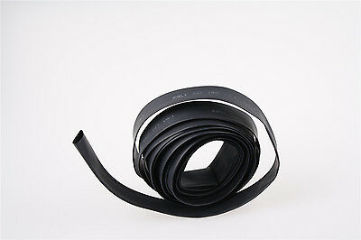 22mm Dia 2:1 Heat Shrink Tubing Tube Sleeving Wire Cable Black 2M Length