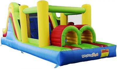 Bounceland Mega Adventure 21ft Bouncy Castle Inflatable Slide with Fan