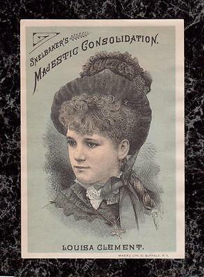 Snelbaker's Majestic Consolidation Actress Louisa Clement Theatre Trade Card