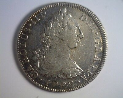 ICOIN 1772 FM Mo Mexico Spanish Colonial Silver Portrait 8 Reales from an estate