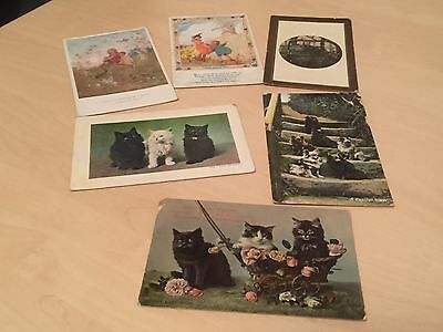 Small Lot of Vintage Animal (Cats and Dogs) & Fairy Postcards