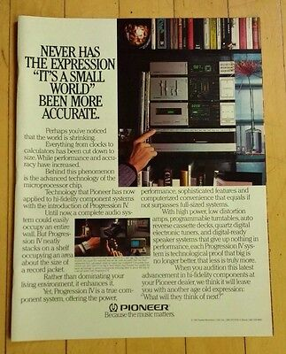 1983 Pioneer Progression IV Stereo Component System Ad