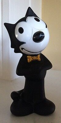"Vintage Collectible Felix The Cat Hard Rubber Figurine. 5"" Production Co. NICE!"