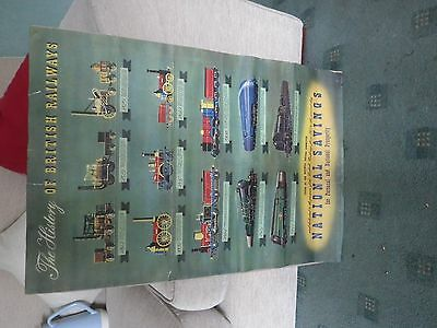 Rare Vintage Original 1940's National Savings ' British Railway History' Poster