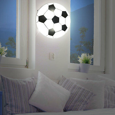 LED Ceiling Lamp Young Children Room Football Design Wall Lamp Glass Satin