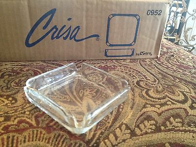 8 new Crisa glass restaurant ash trays