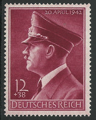Germany Third Reich 1942 Hitler 53rd Birthday Vertical Gum Variety VF MNH!