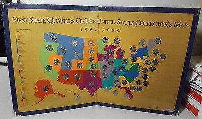 First State Quarters Of The US Collectors Map With All - First state quarters of the us collectors map