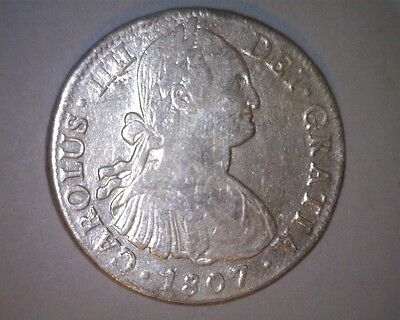 ICOIN - Mexico 1807-TH Mo Spanish Colonial Portrait Silver 8 Reales