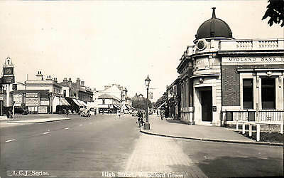 Woodford Green. High Street in LCJ Series. Midland Bank.