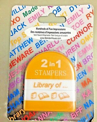 2 in 1 Desk Author Stamper Book Identification Personalize Library Of  New