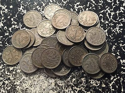 1921 Colombia Leper Colony 2 Centavos (44 Available) Circulated (1 Coin Only)