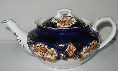 Royal Albert Heirloom Cobalt Blue Gold White Small Teapot 1 3/4 cups