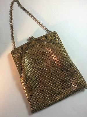 Lovely Vintage 1920's Gold Mesh Purse