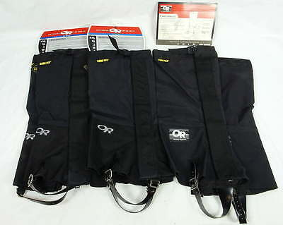 3 Pair OR Outdoor Research Alpine Crocodiles Multipurpose Gaiter Black Medium