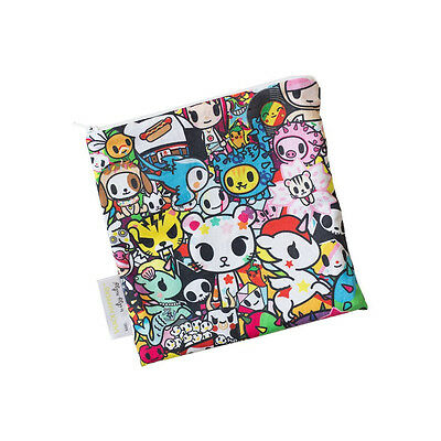 "Tokidoki Itzy Ritzy Reusable Snack Bag 1 Pack 7"" x 7"" Donutella New"