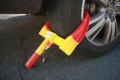"""Max 19"""" Tire Wheel Lock Clamp Boot Tire Claw Trailer Car Truck Anti-Theft Towing"""