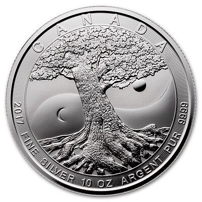 10 oz 2017  Tree of Life - Royal Canadian Mint Bullion Coin .9999