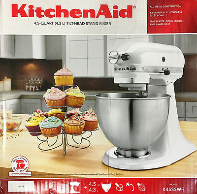 KitchenAid K45SS Stand Mixer with Attachments Planetary mixing