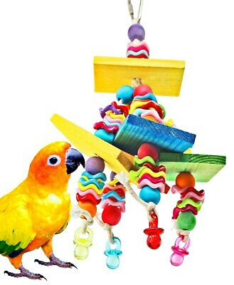 840 Wiggles N Wafer Bird Toy Parrot Cage Toys Cages Parakeet Conure Cockatiel
