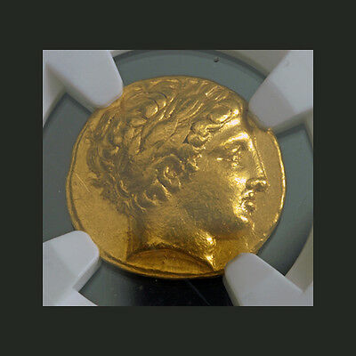 ANCIENT GOLD~ KINGDOM of MACEDON ~PHILIP II~ 359~336~BC ~NGC~XF~8.57g ~$4,288.88