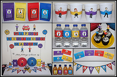 ** THE WIGGLES PERSONALISED Birthday Party Decorations Supplies Scene Setter **